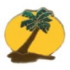 PALM TREE PIN ISLAND WITH SUN SCENE PIN