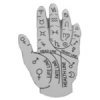 PSYCHIC PALM READER MYSTIC HAND PIN