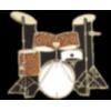 DRUM SET 5 PIECE GOLD DRUM PIN