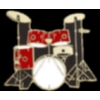 DRUM SET 5 PIECE RED DRUM PIN