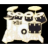 DRUM SET 7 PIECE BLACK DRUM PIN