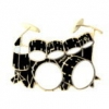 DRUM SET WITH DOUBLE BASS BLACK DRUM PIN