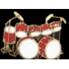 DRUM SET WITH DOUBLE BASS RED DRUM PIN