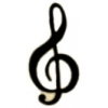 G CLEF NOTE MUSIC PIN CUTOUT TREBLE CLEF MUSIC PIN