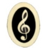 G CLEF NOTE MUSIC PIN OVAL TREBLE CLEF MUSIC PIN