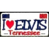 I LOVE ELVIS PIN LICENSE PLATE ELVIS PIN HAT PIN LAPEL PIN