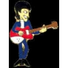 BEATLES GEORGE HARRISON PLAYING GUITAR PIN