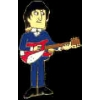 BEATLES JOHN LENNON PLAYING GUITAR PIN