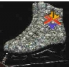 OLYMPIC SALT LAKE CITY SKATE GLITTER PIN