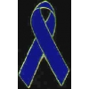 BLUE RIBBON CUTOUT PIN