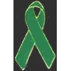 GREEN RIBBON CUTOUT PIN