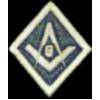 MASONIC LOGO DIAMOND MASON STYLE PIN