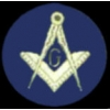 MASONIC ROUND LOGO BLUE MASON PIN