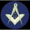 MASONIC ROUND LOGO BLUE MASON PIN