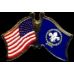 BOY SCOUTS FLAG AND USA CROSSED FLAG PIN FRIENDSHIP FLAG PINS DX