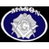 MASON PIN OVAL MASONIC PIN
