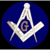 MASONIC ROUND BLUE MASON LOGO LARGE PIN