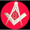 MASONIC ROUND RED LOGO MASON LARGE PIN