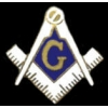 MASON PIN COMPASS AND SQUARE SYMBOL CUTOUT LOGO MASONIC PIN