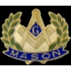 MASON PIN WREATH MASONIC PIN
