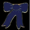 BLUE RIBBON BOW PIN