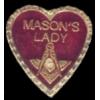 MASON PIN MASONS LADY MASONIC PIN
