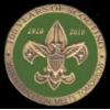 BOY SCOUTS PIN 100TH ANNIVERSARY PIN GREEN