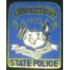 CONNECTICUT STATE POLICE MINI PATCH PIN