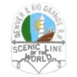 DENVER AND RIO GRANDE RAILROAD PIN SCENIC LINE TO THE WORLD PIN