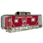PENNSYLVANIA RAILROAD RED CABOOSE CAR PIN