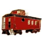 RED CABOOSE RAILROAD CAR PIN