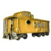 YELLOW CABOOSE RAILROAD CAR PIN