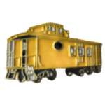 YELLOW CABOOSE RAILROAD CAR PIN