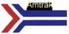 AMTRAK PIN RAILROAD ARROW LOGO LARGE AMTRAK PIN