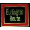 BURLINGTON ROUTE RAILROAD LOGO PIN
