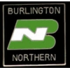 BURLINGTON NORTHERN RAIROAD LOGO PIN