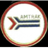AMTRAK PIN RAILROAD ROUND LOGO AMTRAK HAT PIN LAPEL PIN TAC PIN