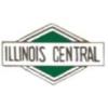 ILLINOIS CENTRAL RAILROAD PIN GREEN TRIANGLE STYLE
