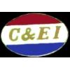 C AND E I RAILROAD LOGO PIN