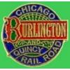 C B AND Q CHICAGO BURLINGTON QUINCY RAILROAD LOGO PIN
