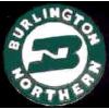 BURLINGTON NORTHERN RAILROAD ROUND LOGO PIN