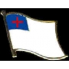 CHRISTIAN FLAG PIN DX