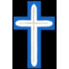 CHRISTIAN CHAPLAINS CROSS BLUE SILVER PIN