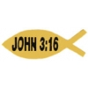 JOHN 3:16 PIN CHRISTIAN FISH SYMBOL PIN