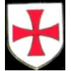 KNIGHTS TEMPLAR CROSS CRUSADES SHIELD PIN