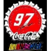 COKE NASCAR KURT BUSCH BOTTLE CAP DX