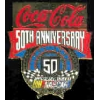 COCA COLA COKE NASCAR 50TH ANNIV LG PIN
