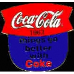 COKE COCA COLA 1963 SLOGAN PIN
