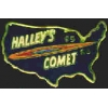 HALLEYS COMET PIN 1985 1986 US COUNTRY SHAPE PIN