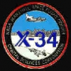 X-34 NASA MARSHALL SPACE FLIGHT LOGO PIN